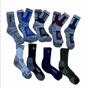 Men's YUEDGE (12 Pairs)  Cushion Hiking Socks